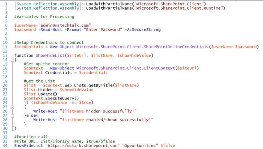SharePoint Hide show list and libraries