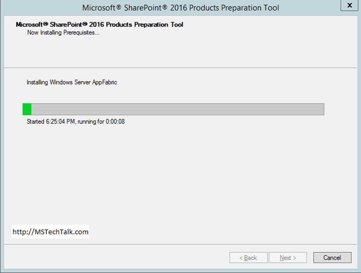 SharePoint 2016 Product Preparation Tool