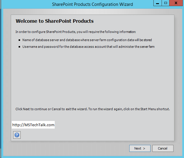 SharePoint Server 2016 - Configuration Wizard Started