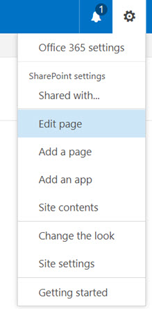SharePoint Edit Page