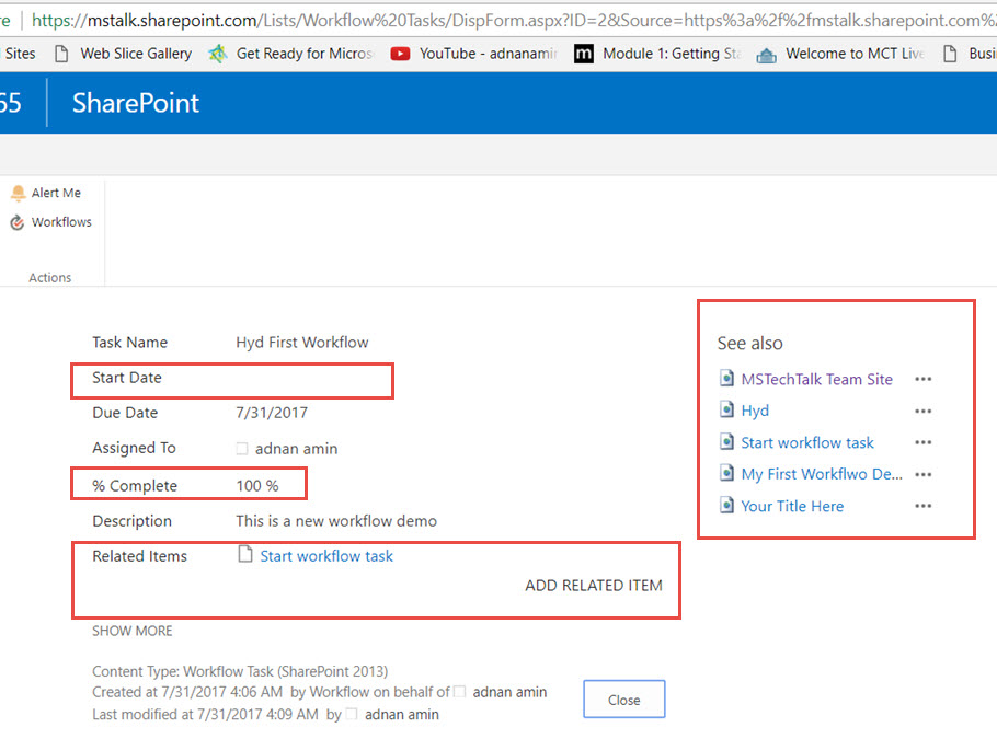 SharePoint View form