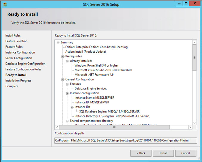 SQL Server 2016 - Ready to Install