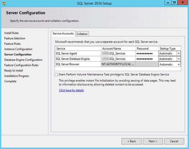 SQL Server 2016 - Server Configuration