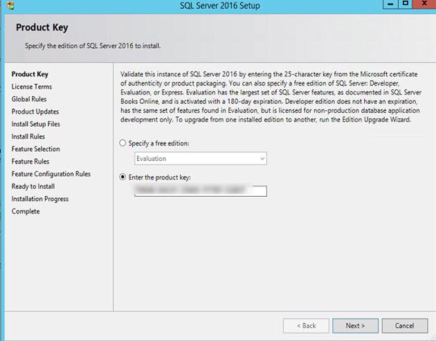 SQL Server 2016 - setup
