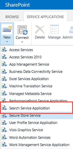 SharePoint 2016 Search Service Application