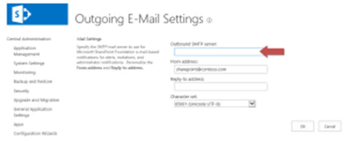 SharePoint Email configuration