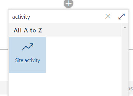 SharePoint activity web part