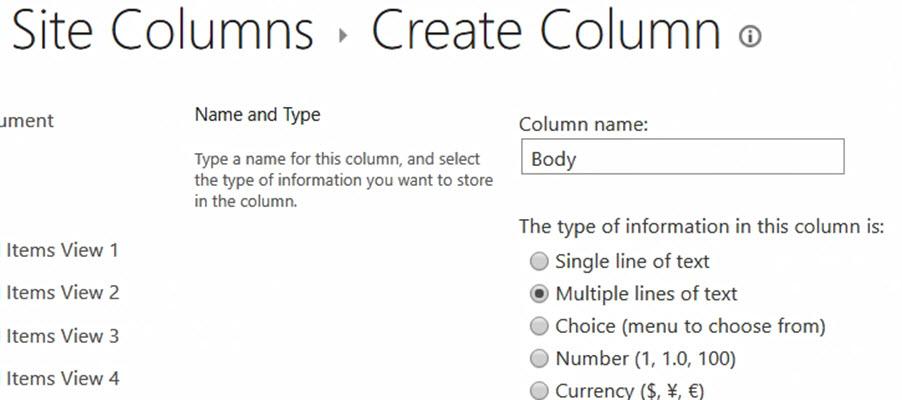 create site column